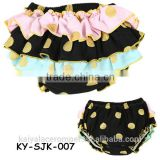 Gold dot girls ruffle underwear baby bloomers newborn bloomer infant baby ruffle bloomer