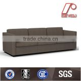 the latest three seat sofa was made from metal leg and high density foam and genuine leather /PU/Fabric three/