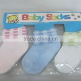high quality breathable baby socks with 3 pcs packing