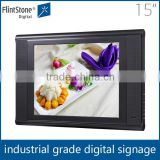 "flintstone top selling products 2015 15"" wall mounted plastic casing heavy-duty built usb flash drive video ads"