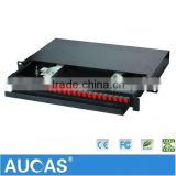 Fiber Optic Termination Box 12/16/24 Port Wall Mounted Fiber Optic Patch Panel ,Metal Termination Box