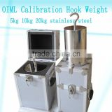 F1 F2 M1 hook type calibration weight 1kg, stainless steel hook weight, OIML standard test weight