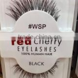 Best selling false strip eyelashes private label human hair red cherry eyelashes wholesale price