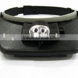 Light Head Magnifying Glass / Head LED light Magnifying Glass / Two Led Lights Head Magnifying Glass