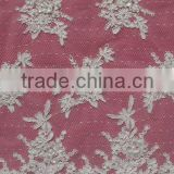 Guangzhou Wiest Beaded Bridal Lace Fabric Wholesale