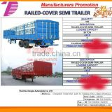 DTA 2/3 Axle box semi trailer,semi-trailer van for cargo van transportation semi trailer, cargo semi trailer factory sale