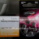 Mercury free a10 battery pr70 hearing aid battery a312 a13 a10 a675 zinc air coin cells batteries