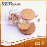 2015 Hot selling food safe customized porcelain coffee mug with wooden lid