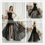 Real Sample Black Sweetheart A-line Beaded Flower Lace Applique Floor Length Prom Dresses xyy07-014