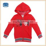 18M-6Y (F3429) nova baby clothing high quality baby girl hoodies with zipper child winter coat