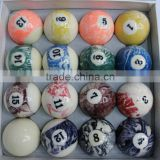 texture billiards ball sets