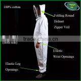 Advanced designed full body bee suits/beekeeping suits with elastic wrist and trouser openings