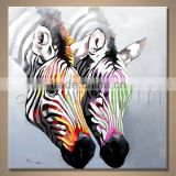 Abstract Africa animal Oil painting zebra , handmade horse canvas painting , home wall Decoration paitning
