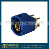 Fakra Connector PCB mount Straight 4 Contact pin for Blue GPS