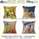 Top Grade digital printing Colorful Birds Home Decor sofa cushion