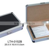 Aluminum cigar case with simple design ,Cigar Humidor inside lined with Mahogany