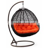 Outdoor garden cheap hanging garden rattan rocking chair                                                                         Quality Choice