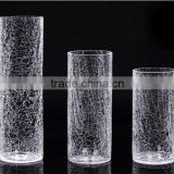 Baroque style clear glass vase for home decoration