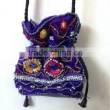 Best Deal !!! Wedding Favor Beautiful Gift Jewelry Packing hand embroidered Ethnic Satin Pouch Bag