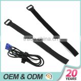 100% nylon recycled black color cable ties with plastic buckle