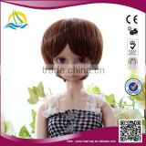 Pretty cute mix colour synthetic doll hair wig