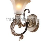 new arrival hot selling in Kazakhstan hotel style wall lamps with glass flower shape lamp shade