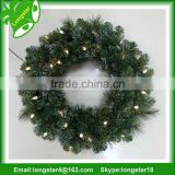 60cm Holiday Artificial Lighted Christmas Wreath Christmas decoration preserved boxwood wreath