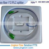 steel tube FTTH bare fiber PLC splitter with fanout