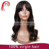 Human hair full lace wig,wholesale high quality 100% virgin aliexpress mongolian body wave human hair wig