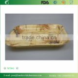 Bamboo Woven Breakfast Serving Tray Print Varnished Past Times