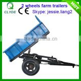 Best quanlity double wheel semi axle trailer for sale