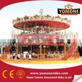 Theme park merry go round amusement park equipment luxury double deck carousel for sale