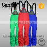 The thickness design colorful elastic belt outdoor ski pant super ventilation waterproof man trousers