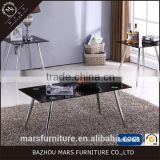 Cafe furniture wholesale tempered glass coffee table