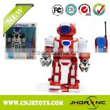Hot Sale 2CH RC Walking Robot Toys with Light & Music Best Kids Toys for Boy Toys