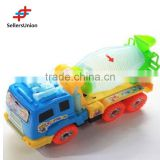 No.1 yiwu commission agent remote control electric toy car motors Mini engineering cementing truck toys with lights 21.5*10*7CM