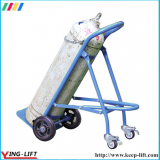 Solid Rubber Wheels Hand Trolley For Gas Cylinder TY120