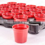 beautiful plastic small flower pot carry tray display