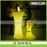 Tell World high quality white artificial marble commercial led round bar counter/bar table