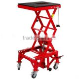 300LB Hydraulic Foot Pedal Decreasing Motorcycle Repair Lift Stand with Four wheels Moving