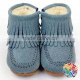 Children Zipper Boots Kids Cotton Winter Casual Shoe With Fleece Inside Girl Shoes Wholesale Children Shoes