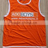 mens polyester, pique, moisture wicking round neck,sleeveless tank top / vest with printed logo