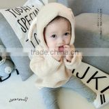 0-3 years 2017 New Wholesale Autumn Cotton Knitted Full Sleeves Baby Boys Girls Hooded Sweaters (pick size )