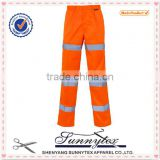 work wear pants New products 2016 cheap safety trousers used hi-vis reflective tape work pants