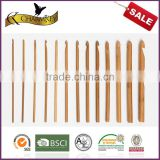 Charmkey bamboo needle single point bamboo crochet hook set for T shirt yarn to crochet blankets
