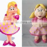Welcome OEM order cute girl plush toys for crane machines