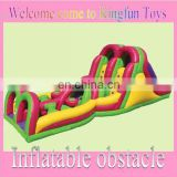 Factory inflatable obstacle course with slide