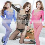 wholesale women open crotch long sleeves nylon body stocking