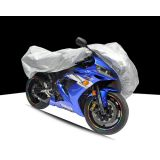 Silver 190T Polyester Taffeta Add PP Cotton Motorcycle Covers