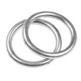 Flat O Rings For Shade Sails Highly Polished Round Ring Welded HKS317 Stainless Steel